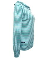EX LAZY JACKS GREEN STRIPED BUTTON HOODIE JUMPER NEW SIZES 8-18